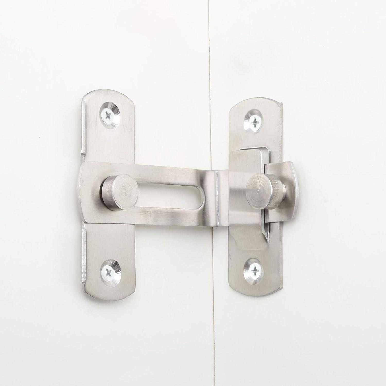 Cerradura de acero inoxidable con hebilla de 90 grados para puerta de /ángulo recto