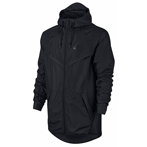 Nike Tech Hypermesh Windrunner Men's Running Jacket, Black (Large)