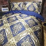 Auvoau Bohemian Bedding Set Boho Bedding 4Pcs Boho Duvet Cover Set National Wind Bedding Bohemian Style Duvet Cover Set Queen King Size (Queen, 5)