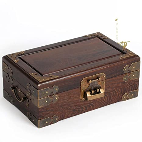 caoba doble joyas antiguas joyas cajas/caja de almacenamiento de estilo chino/Calidad de