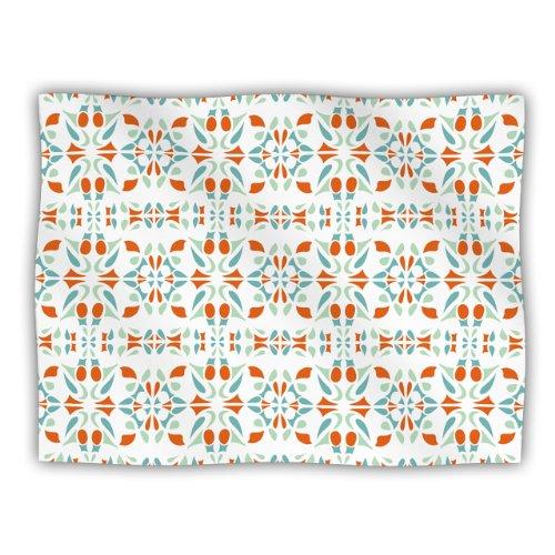 (KESS InHouse Miranda MOL 'Italian Kitchen Orange Green' Dog Blanket, 40 by 30-Inch)