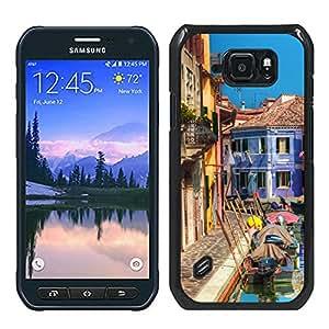 Print Motif Coque de protection Case Cover // V00002103 casas colorido canal y Burano // Samsung Galaxy S6 Active SM-G890 (Not Fit S6)