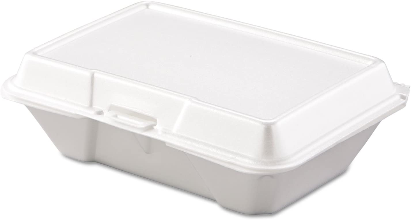 DART 205HT1 Carryout Food Container Foam 1-Comp 9 3/10 x 6 2/5 x 2 9/10 200/Carton