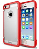 iPhone 5 / 5S / 5SE Case, Sivart Apple Case Shock-Absorption Bumper Anti Scratch Clear Back Ultra Thin Phone Case for iPhone 5S 4 Inch (Red)