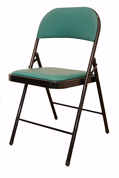 Eros Metal Folding Chair With Cushioned Seat .