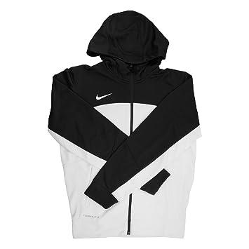 Nike Therma-FIT - Sudadera con Capucha para Hombre, Color Blanco y Negro con Cremallera Completa, Talla XS: Amazon.es: Deportes y aire libre