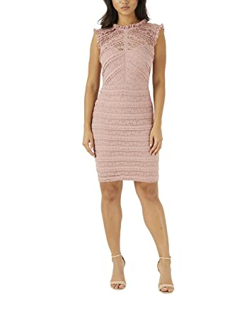 Lipsy Damen Bodycon-Rüschenkleid EU 48 (UK 20) Rosa: Amazon.de ...