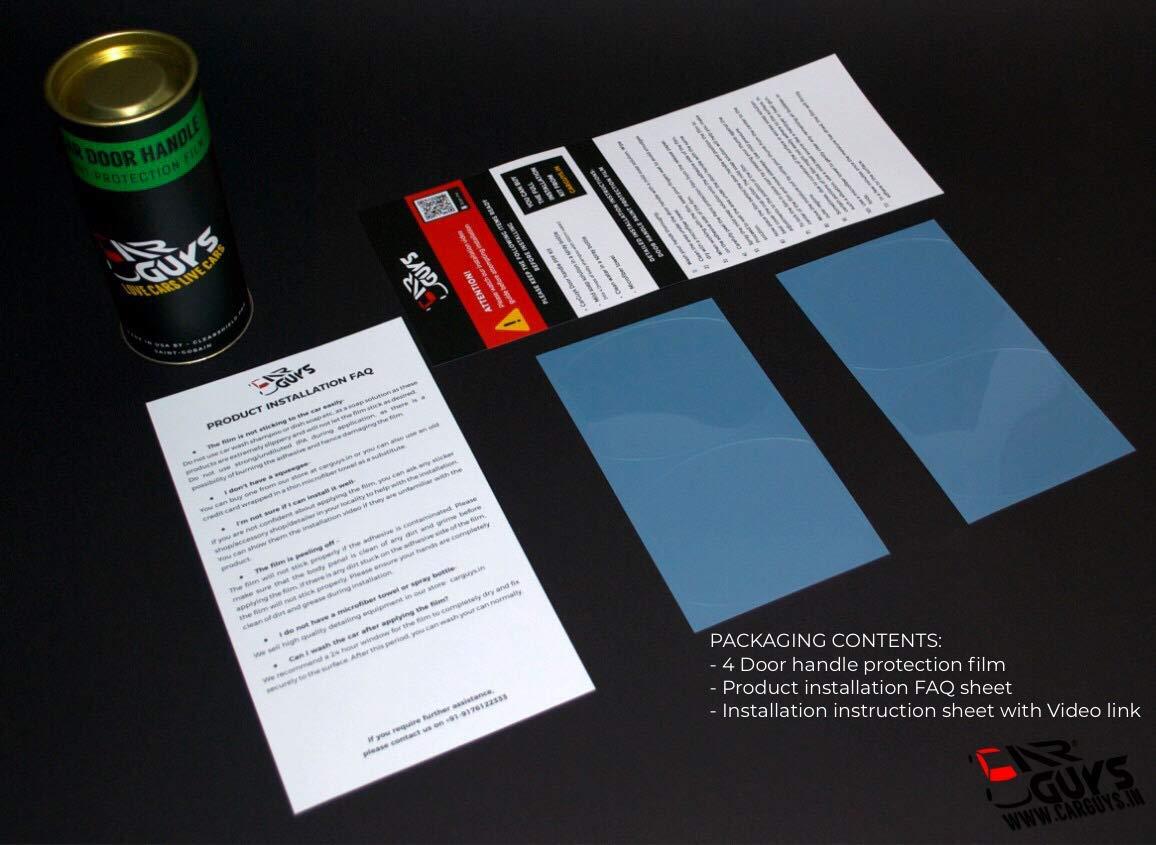 Car Guys - Love Cars  Live Cars Door Handle Paint Protection Kit for All  Cars- Saint Gobain PPF