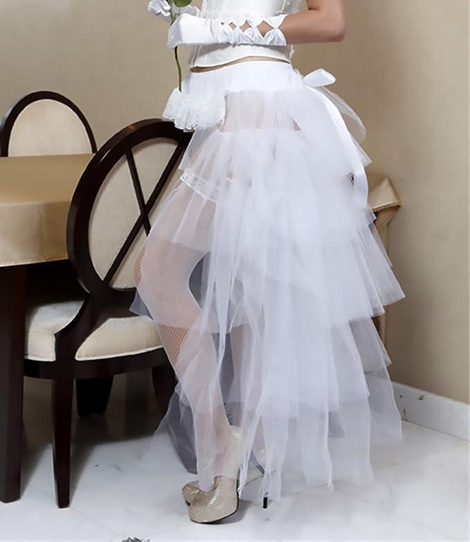 3db682af134 Falda Tul Mujer Tutu Años 50 Vintage Irregular Ballet Enaguas Ropa Dama  Moda Fashionista Gothic Steampunk Danza Fiesta Petticoat Traje De Carnaval  (Color ...