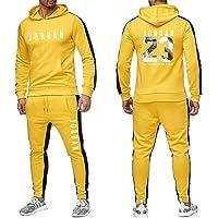 Conjunto de 2 piezas de chándal para hombre, sudadera con capucha y pantalón con cordones ,de Michael Jordan, con el n.º…