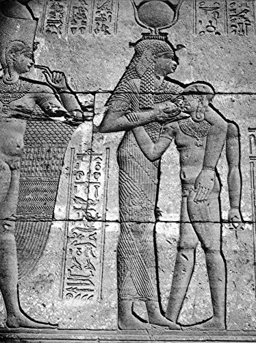 Cleopatra Vii (69-30 BC) Nlast Macedonian Queen Of Egypt Cleopatra In The Form Of The Cow-Goddess Hathor Suckling A Child God Bas-Relief From The Temple Of Bendera Egypt Poster Print by (24 x 36)