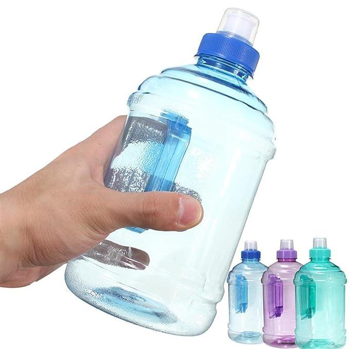Botella de agua de plástico para deportes al aire libre, sin BPA, color aleatorio, 1 litro: Amazon.es: Hogar