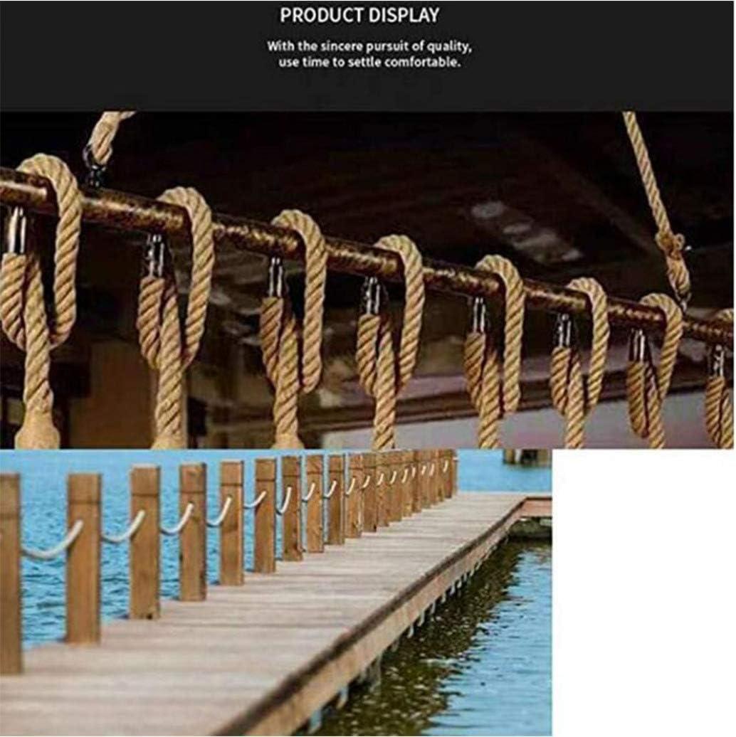 paisajismo Hamaca SOGA Fuerte de Yute 24mm Grueso Cuerda de Yute Natural para la n/áutica RPOLY Cuerda de Yute Baranda Decoraci/ón del Hogar,Brown/_10M