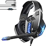 Gaming Headset with Mic, ONIKUMA Gaming Headset for PS4, PS5, Xbox One, Nintendo Switch, PC, Gaming Headphone with Mic…