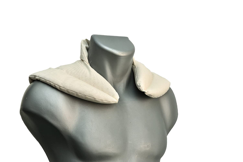 Nackenkissen W/ärmekissen Nackenh/örnchen mit Stehkragen Bio-Stoff natur Traubenkernkissen Ein sehr wohliger Nackenw/ärmer