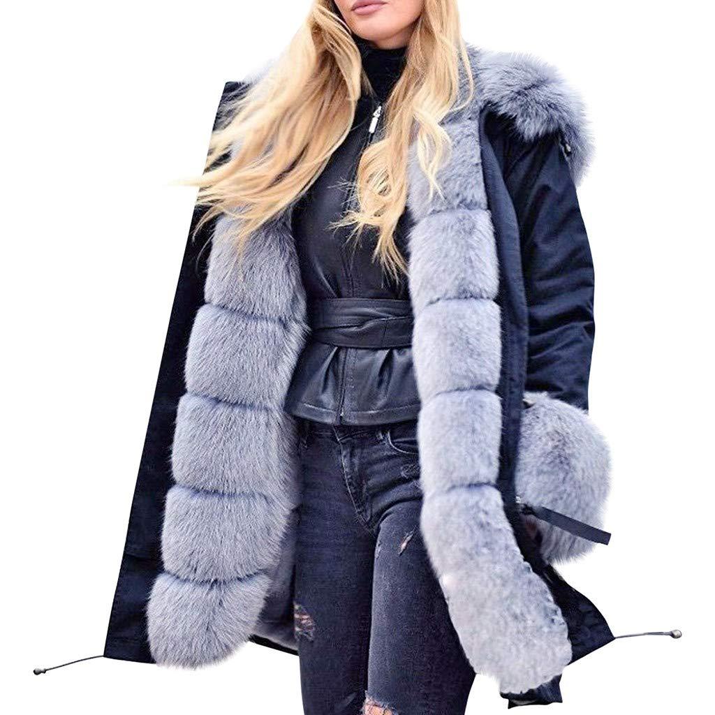 Shusuen Women Thicken Warm Winter Coat Hood Parka Overcoat Long Jacket Outwear by Shusuen_Clothes