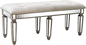 Sterling Home Jules Mirrored bench, Multicolor