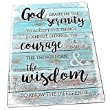 Rustic Serenity Prayer Metal Sign, Christian, Inspirational