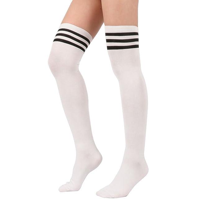 1 Pair Cute Style Stocking Women Long Over Knee High Socks For Girls Stockings