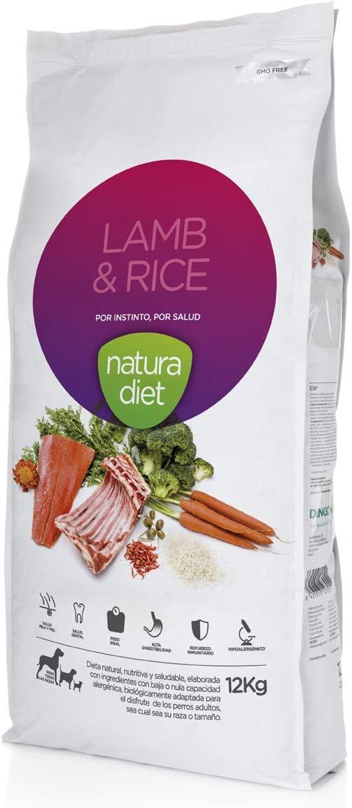 Natura diet Lamb & Rice 12 kg Alimento Natural seco.