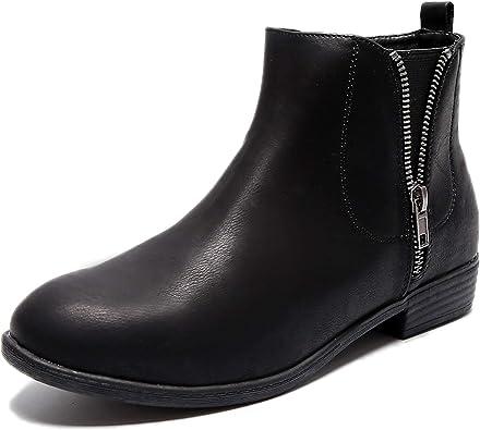 Aukusor Women's Wide Width Ankle Boots
