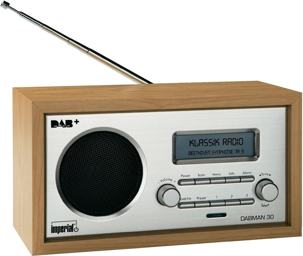 Imperial 22-130-00 Dabman 30 Digitalradio (DAB+/DAB/UKW, Aux In, inkl. Netzteil) braun product image