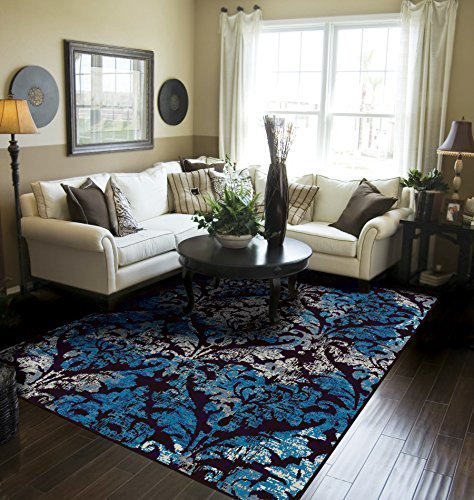 sed Area Rugs for Living Room 8x10 Blue Large Rugs For Dining Room Clearance Under 8x11 (11 Contemporary Carpet)