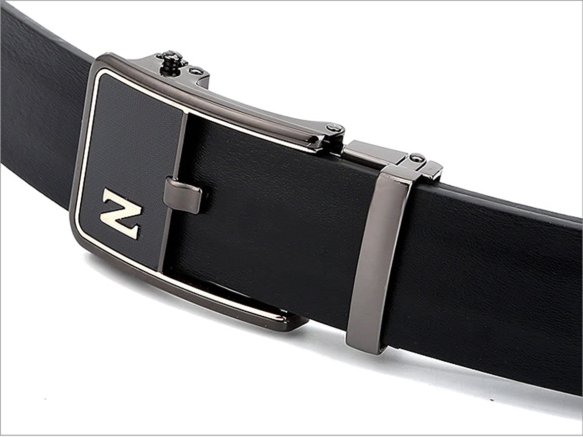 Great for Jeans /& Casual Wear /& Cowboy Wear /& Work Clothes Black Automatic Buckle for Mens Leather Belt Rockynice--New Casual Mens Belt