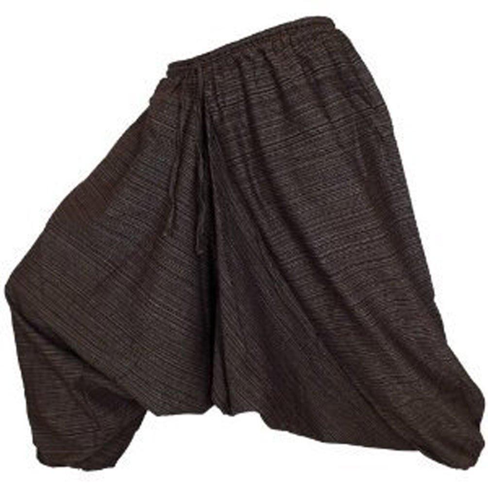 UNISEX GENIUNE Heavy Cotton stripe Harem Pants Aladin Pants Welcome2Bangkok