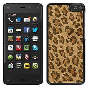 Caucho caso de Shell duro de la cubierta de accesorios de protección BY RAYDREAMMM - Amazon Fire Phone - Spots Piel África Marrón Beige