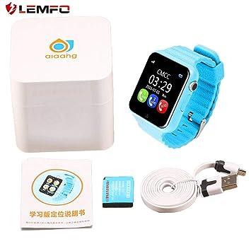 LEMFO V7K Niños Reloj Inteligente Seguridad Monitor de Seguridad Anti Perdido Ubicación GPS Rastreador de Posicionamiento Pantalla Impermeable: Amazon.es: ...