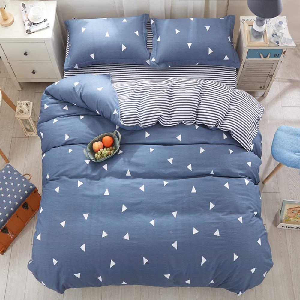 キルト寝具セットの4つの綿の寝具ソフトで快適な通気性の印刷4ピースキルトカバーシート枕カバー (色 : C) B07Q6W8D7N C
