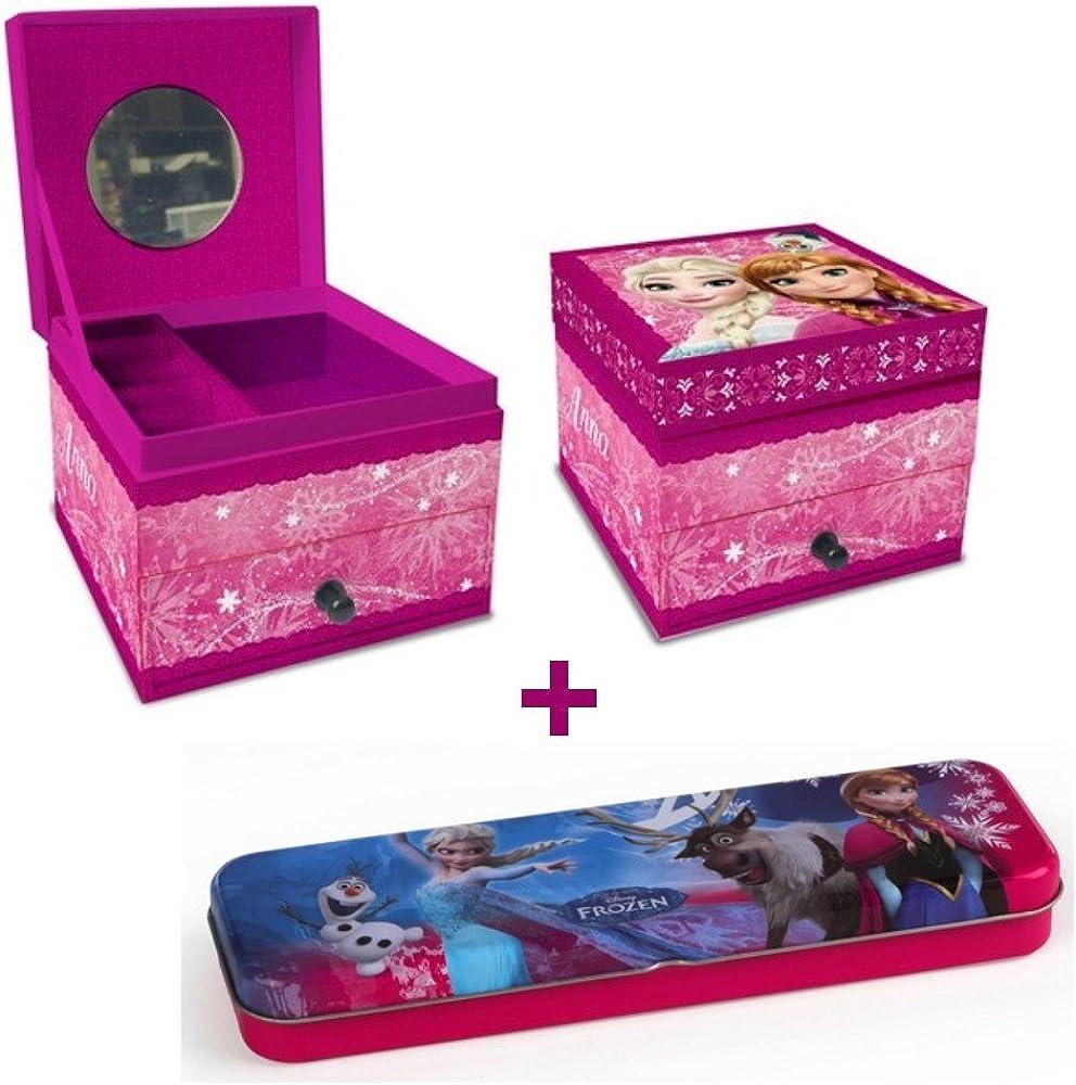1 caja joyero + cajón la Reine des Neiges (cartón rosa + 1 – Funda de Metal de regalo de Navidad: Amazon.es: Joyería
