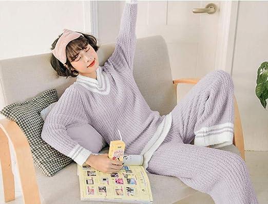 Página Principal Ropa Pijamas Mujer Cuello en V Ropa Gruesa ...