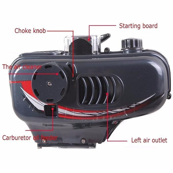 vogvigo hinchable inflable de motor de barco de pesca barco de pesca inflable de 3.5hp Superior con motor fueraborda (2 HP, 2 tiempos motor para barcos, ...