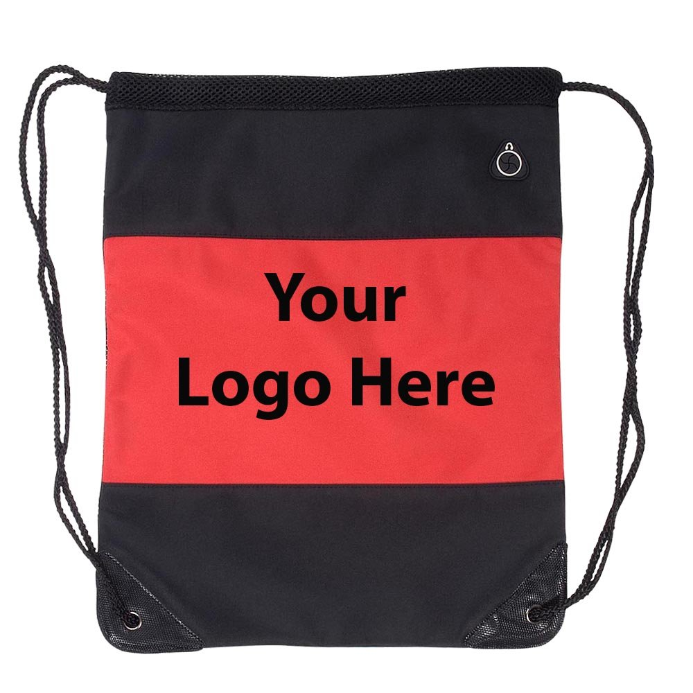 Microfiber String Backpack - 40 Quantity - $6.55 Each - PROMOTIONAL PRODUCT / BULK / Branded with YOUR LOGO / CUSTOMIZED by Sunrise Identity