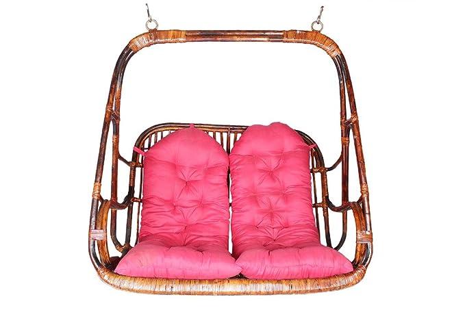 Novelty Cane Art Rattan 2 Seater Swing Chair