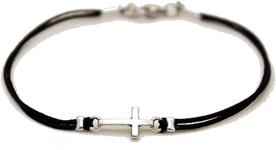 men/'s bracelet with Stone Cross charm bracelet for guys gift for him Religious Cross bracelet for men