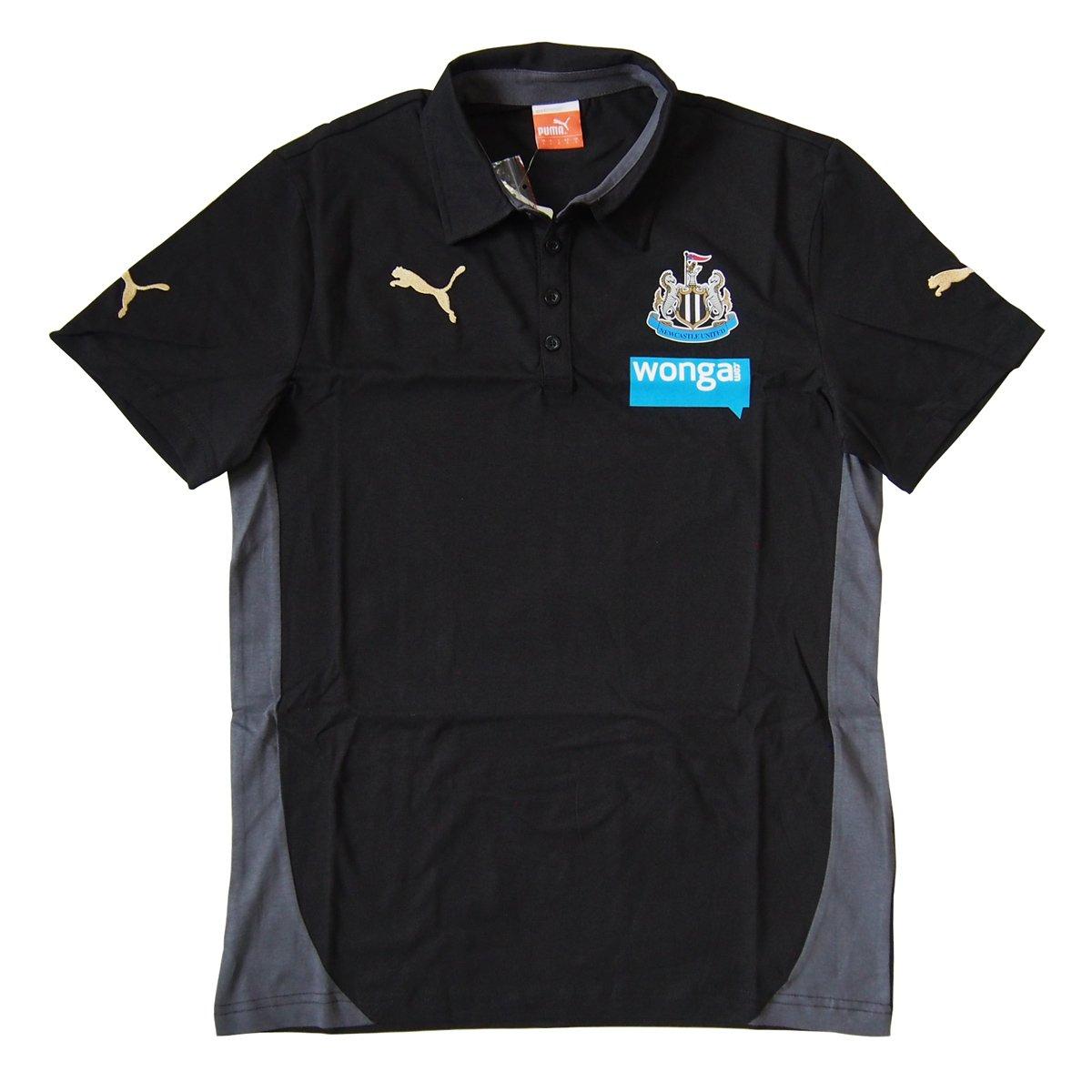 Newcastle United Polo Shirt 2014-2015 (Black)-Small Adults