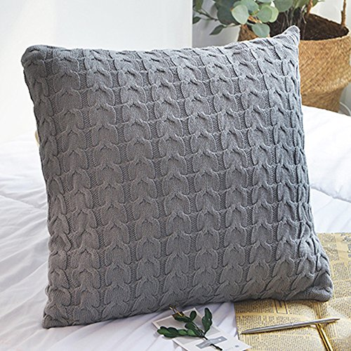 - LakeMono 100% Cotton Twist Crocheted Throw Blanket and Pillow case (18