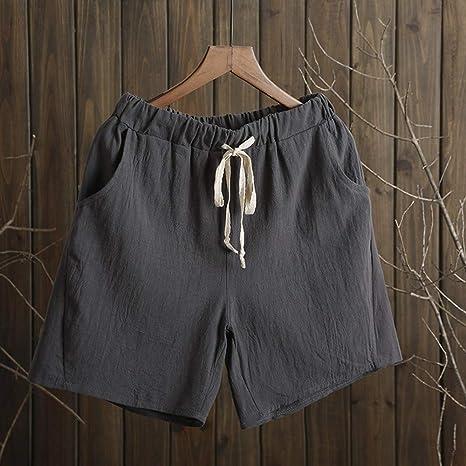 DKXLW Pantalones Cortos De Mujer,Pantalones Cortos De Algodón Gris ...