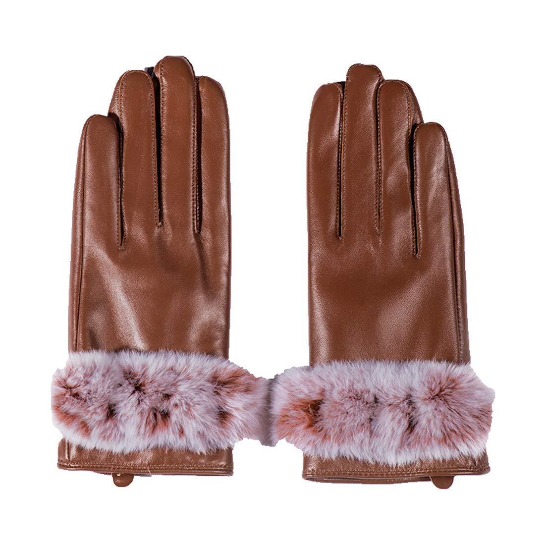 BYMHH Lederhandschuhe Herbst und Winter Schaffell Handschuhe, L