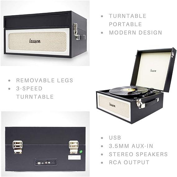 Tocadisco Retro Lauson con Bluetooth y Función Encoding PC-Link ...