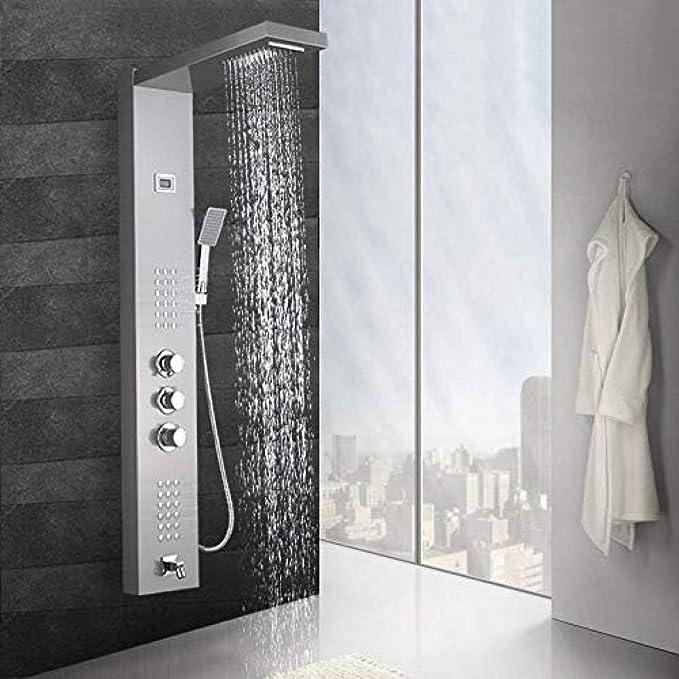 Cascada termostática Panel de ducha de lluvia Columna de ducha ...