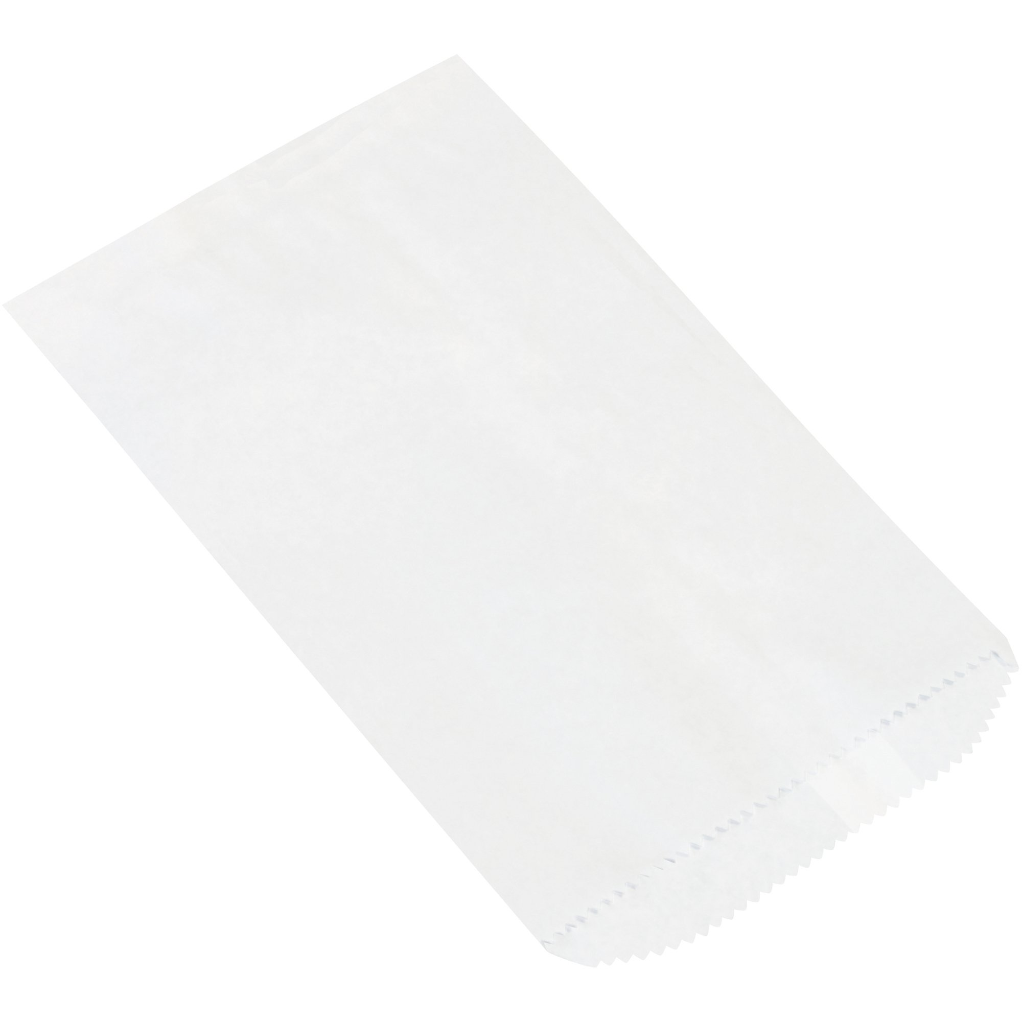 Flat Merchandise Bags, 6 1/4'' x 9 1/4'', White, 3000/Case by Choice Shipping Supplies (Image #1)