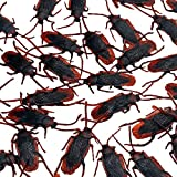 Fake Roaches Cockroaches Prank, Plastic Realistic Roaches Bugs Insects Look Real,Favorite Trick Toys For Halloween Party Favors Creepy Decoration Supplies