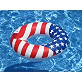 "Amazon Price History for:Swimline 36"" Inflatable American Flag Swimming Pool and Lake Tube Float 