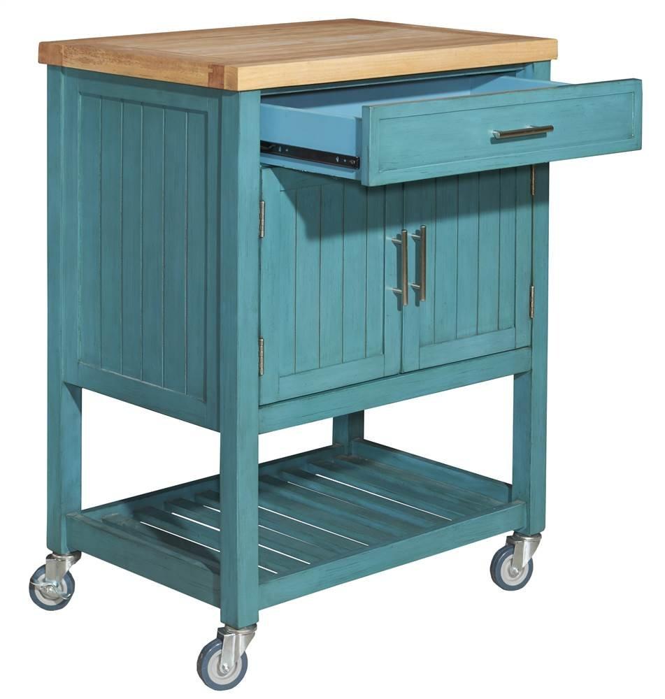amazon com kitchen cart in teal finish kitchen islands carts
