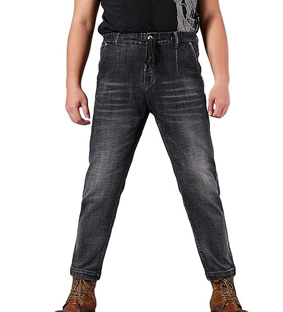 Heheja Herren Jeanshosen Übergröße Freizeit Denim Hose Elastizität Straight Jeans