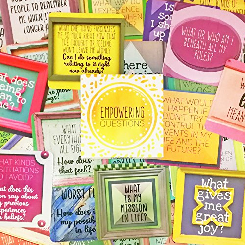 Empowering Questions Cards - 52 cards for meditation, writing, or any other empowering process you like | Examine your deeper self, discover your inner strength and bring more energy into your life. by Sunny Present